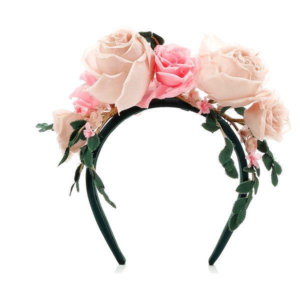 MAISON MICHEL PARIS Michel Maison Paris Betty Rose Headband ($695) ❤ liked on Polyvore featuring accessories, hair accessories, hats, headbands, headwear, hair band accessories, rose headbands, hair band headband, pink headbands and head wrap headband