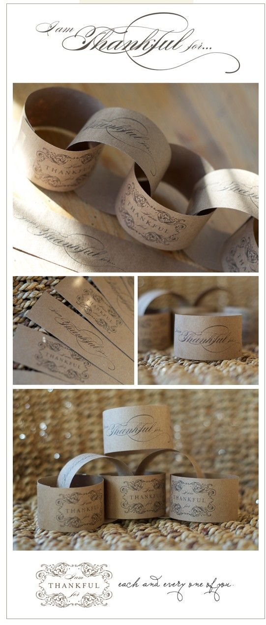 {diy Wedding Ideas} Kraft Paper Printable Napkin Rings