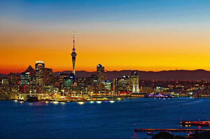 #auckland #newzealand #travel #sunset #vantagetravel