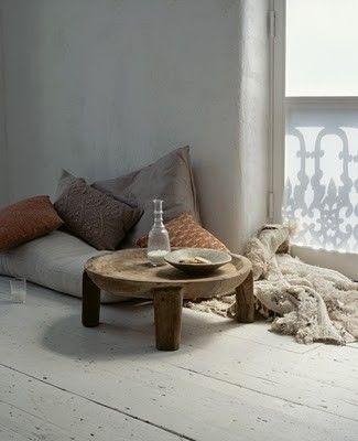 Natural coloured cushions