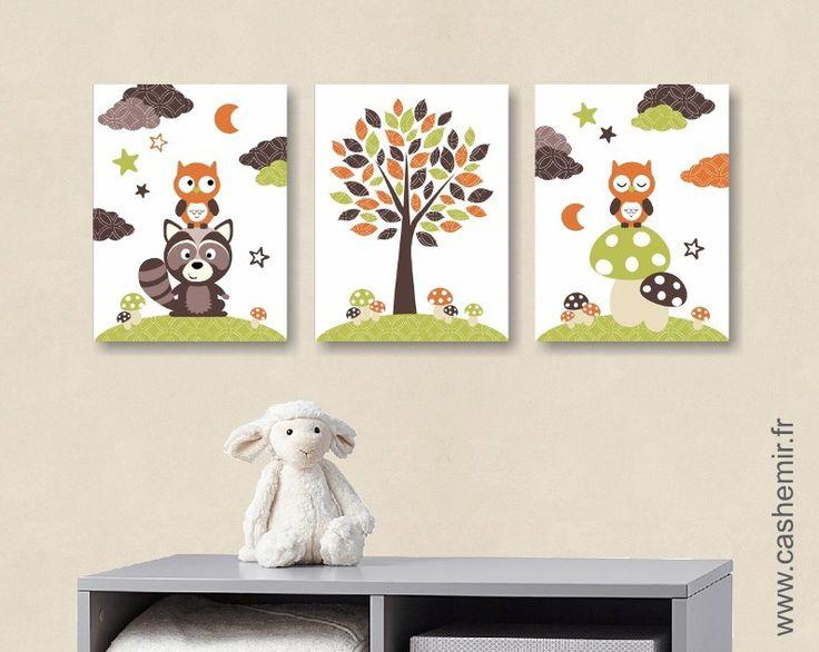 lot de 3 illustrations pour chambre denfant garon affiche poster dcoration chambre bb