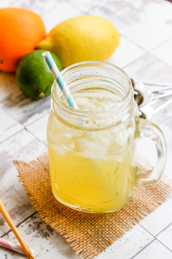 Homemade Electrolyte Drink for POTS and atheltes - an easy DIY recipe made with citrus and ginger for a refreshing drink | www.asaucykitchen.com
