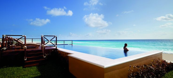 Personal infinity pool overlooking the ocean at the hotel and beach resort