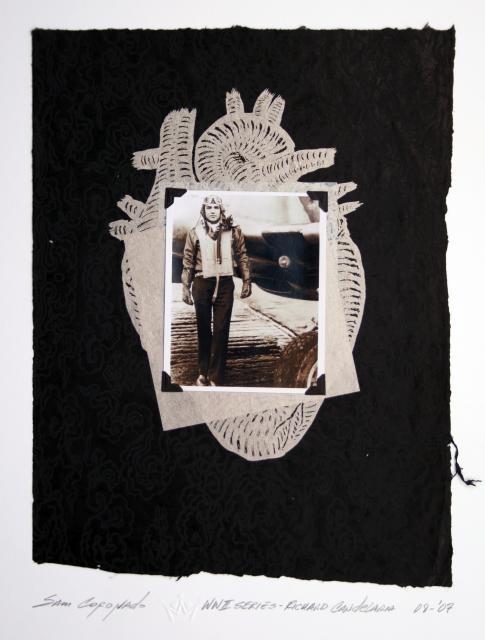 Sam Coronado,  Richard Candelia,  Mixed Media  #LatinoArt  #MexicanAmericanArt  #serigraphy  #printmaking