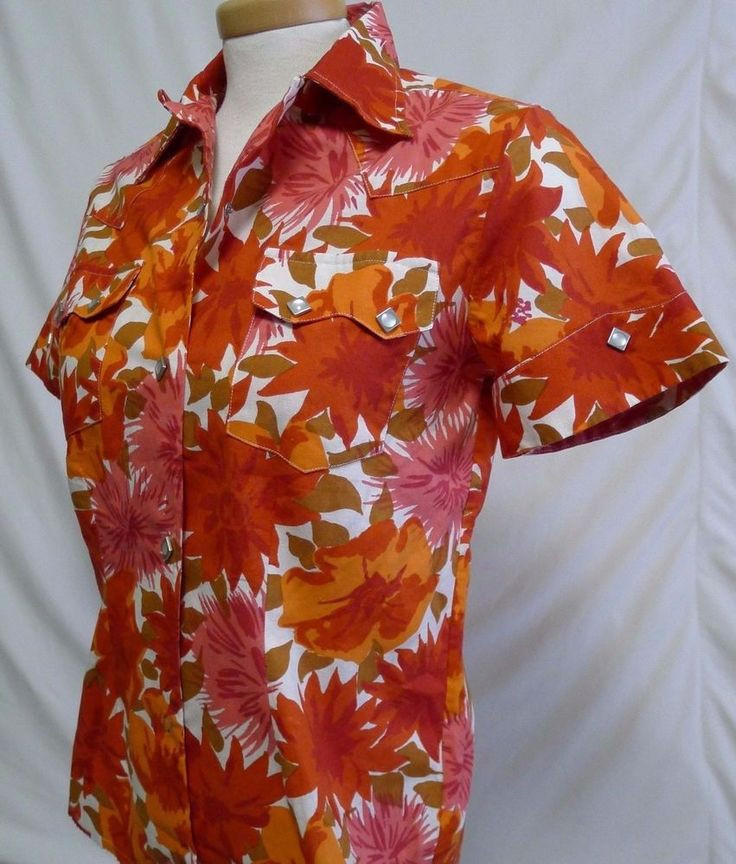 Levi s LVC Ladies Western Wear SS Shirt Floral Pearl Buttons Small NWOT Sample | eBay
