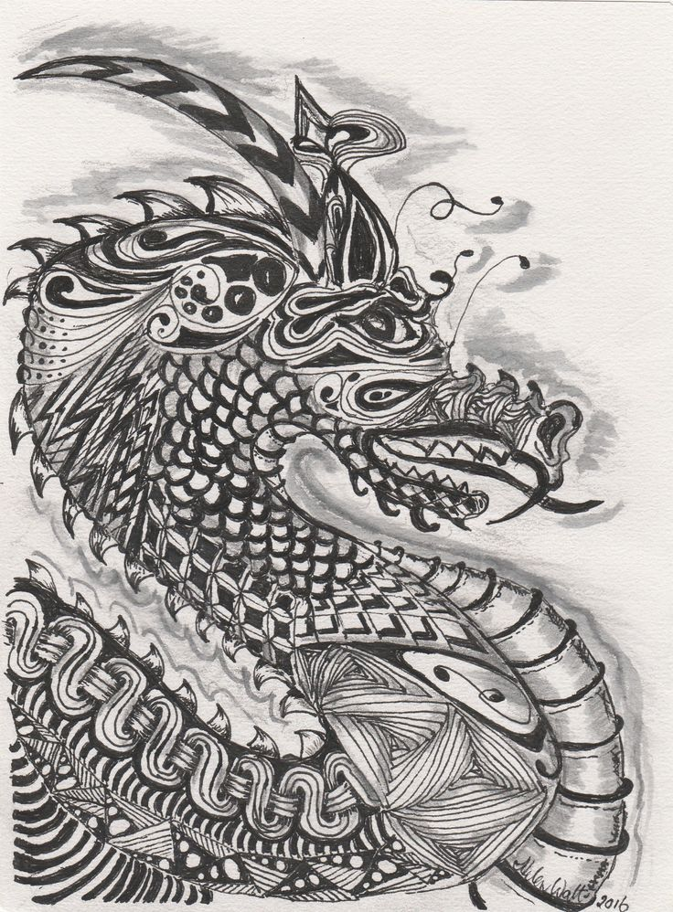 Zentangle dragon