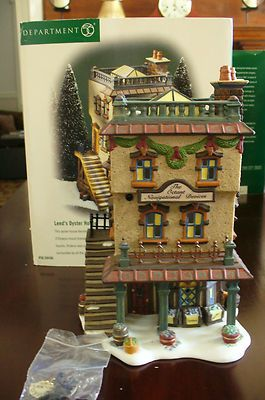 Department 56 Leeds Oyster House Dickens Village Series