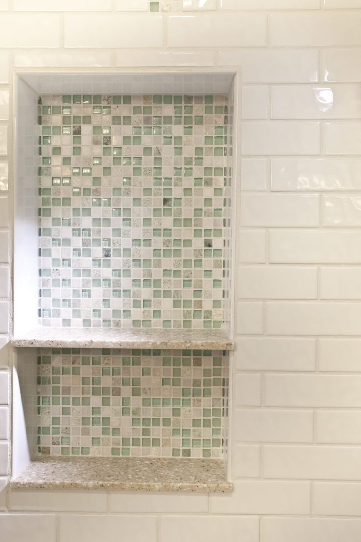 18 best tile for bathroom images on pinterest flooring tiles recessed wall shelf insert dailygadgetfo Choice Image