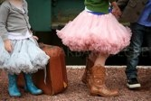 Tutu and boots by Barbara Decre
