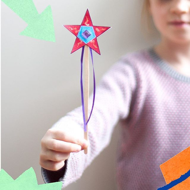 Oh Monday! How I wish I could wave a magic wand to get the children up, dressed and ready for school... Half term was over too soon! (And why is it that today is the day they finally choose to sleep in!?) Make your Own Fairy Wand from www.cottontwist.co.uk