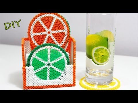 Set Sottobicchieri con Hama Beads/Perler Beads Tutorial ! - YouTube