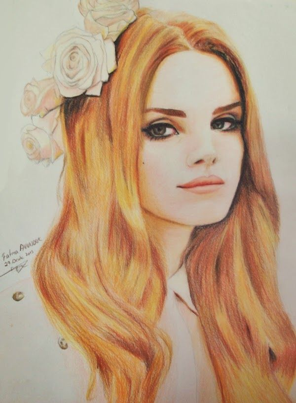 Lana Del Rey Renkli Portresi ~ Fato Fotofan #lanadelrey