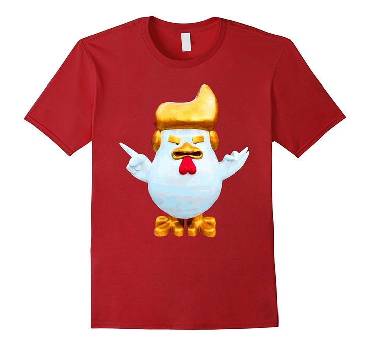 Giant Rooster Donald Trump China Fried Chicken Funny T-Shirt