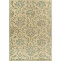 Damask-ish.: Area Rugs, Beige Rugs, Blue Rugs, Abbey Collection, Alexa Abbey, Rooms Rugs, Modern Beige, 10X14 Rugs, Nuloom Abbey