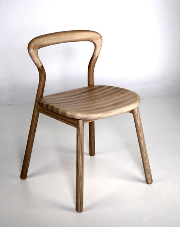 """Ash wood & beech wood chair (which reminds me of one of my favorite bad joke punchlines-- """"Son of a birch? Son of a beech? I don't know, but that's the best piece of ash I've ever had my pecker in this morning."""""""