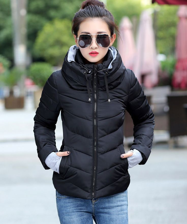 Long Sleeved Down Padded Winter Parka For Women Stay warm and stylish in this long sleeved padded winter parka. When it's cold outside, just put on this jacket and do what you need to do, in style! Th