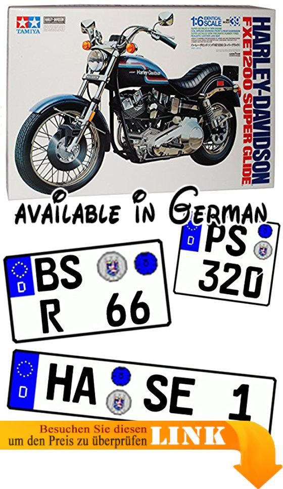 B00H2KX8O6 : Harley Davidson FXE 1200 Super Glide 16039 Kit Bausatz 1/6 Tamiya Modell Motorrad mit individiuellem Wunschkennzeichen. INKUSIVE WUNSCHKENNZEICHEN: Das Fahrzeug wird mit IHREM individuellem Wunschkennzeichen geliefert! <br />Die Kennzeichen sind selbstklebend - also einfach auf die gewünschte Größe ausschneiden und die Folie hinten abziehen. <br />___die Nachfrage des Kennzeichens erfolgt - AUTOMATISCH innerhalb 1 Werktag - bitte vorher KEINE Nachricht senden___.