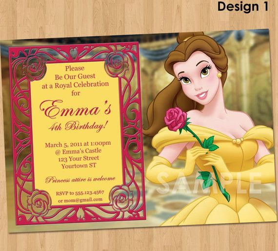 164 best birthday ideas images on pinterest birthday party ideas items similar to princess belle invitation beauty and the beast party invitation custom personalized princess belle party birthday invite disney filmwisefo