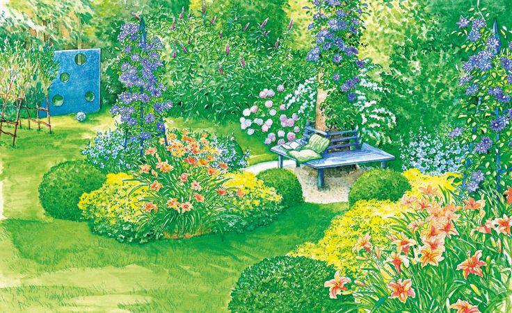 Charmante Schattenbeete -  Eine große Fichte im Garten bringt viele Hobbygärtner zum Verzweifeln: Darunter wächst einfach nichts! Mit ein bisschen Know-How und ein paar kreativen Ideen kann man aus dem schattigen Platz aber durchaus etwas machen.