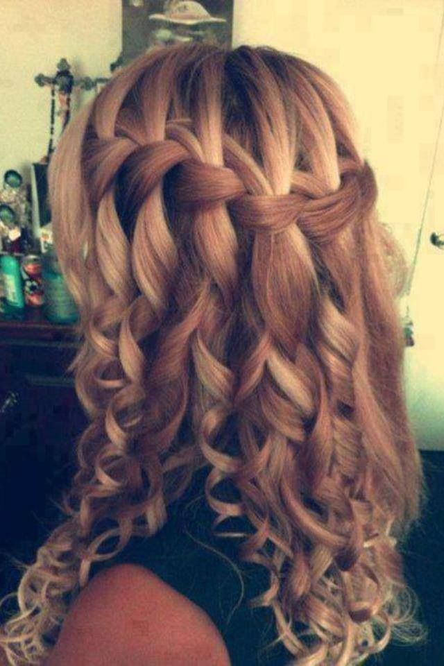Love How It S A Casual Waterfall Braid Turned Into A Fancy