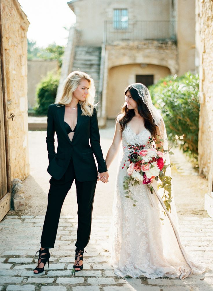 179 best lgbtaq wedding ideas images on pinterest for Lesbian wedding dresses and suits