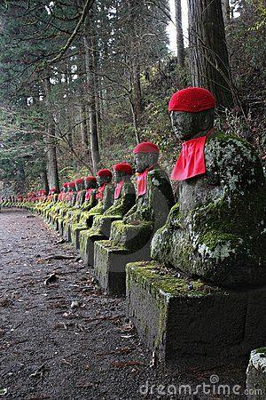 Jizo Statues Copyright: Neale Cousland