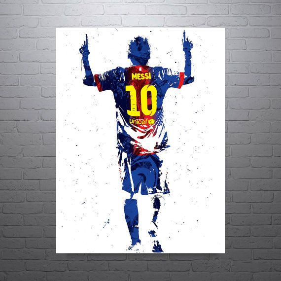 Lionel Messi Barcelona Soccer Poster Sports Art Print
