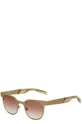 Gafas de sol de metal dorado