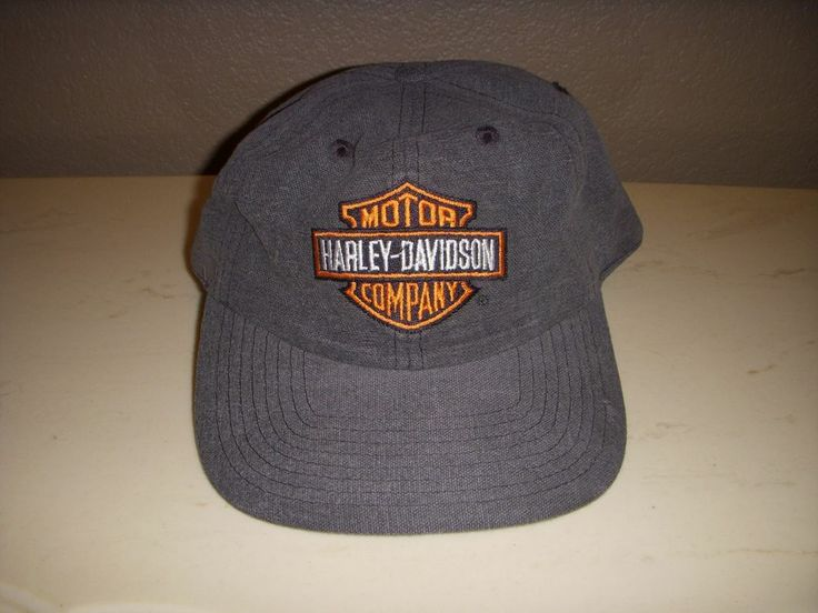 harley davidson motor company gray baseball cap hat with