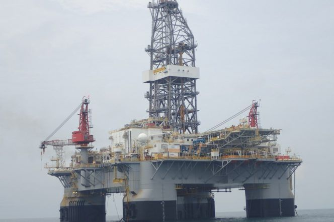 Ensco Dps 1 Semisubmersible Oil And Gas Rigs Offshore