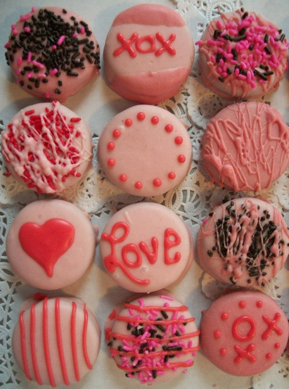 Valentine Pink Chocolate Covered Oreos Cookies 12 1 Dz Made To