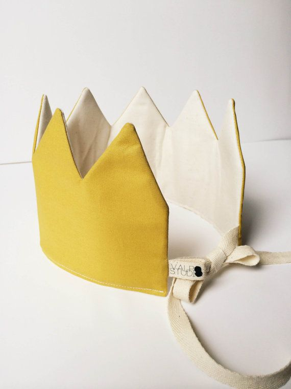 Fabric Crown-Mustard by ValpoStudio on Etsy