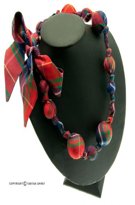 Tartan ball Necklace