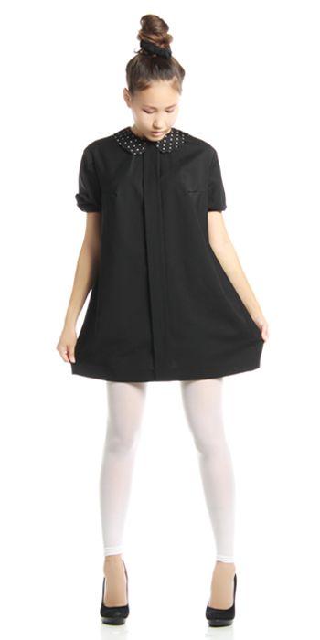 Изделие: Маленькое черное платье. Материал: Шерстяной креп.