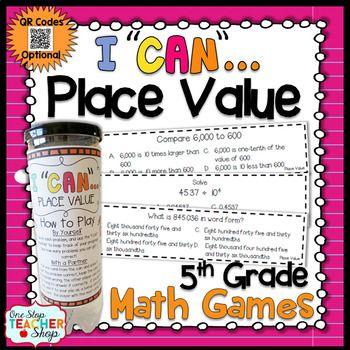 5th Grade Decimal Place Value Game | 5th Grade Math Centers