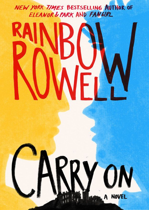 Carry On - Rainbow Rowell Simon Snow is the worst chosen one who's ever been chosen. That's what his roommate says. And his roommate might be evil, a vampire, and a complete git but he is probably right. Carry on is a ghost story and a love story with kissing and monsters.