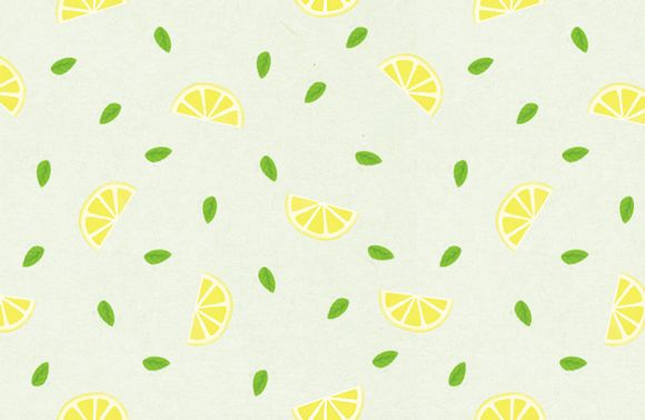 Plus rapide que le citron pressé, notre motif citron à télécharger !