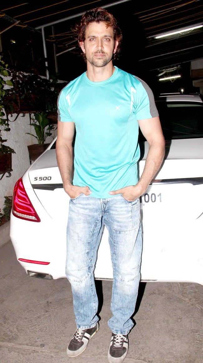 Hrithik Roshan at a screening of 'Welcome To Karachi'.