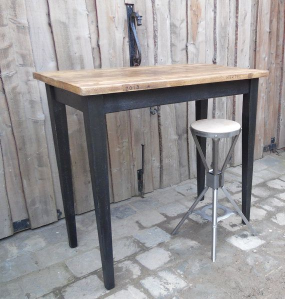 Rustic breakfast bar poseur table bar table made to by for 12 bar blues table