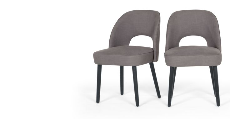 2 x Rory Dining Chairs, Graphite Grey