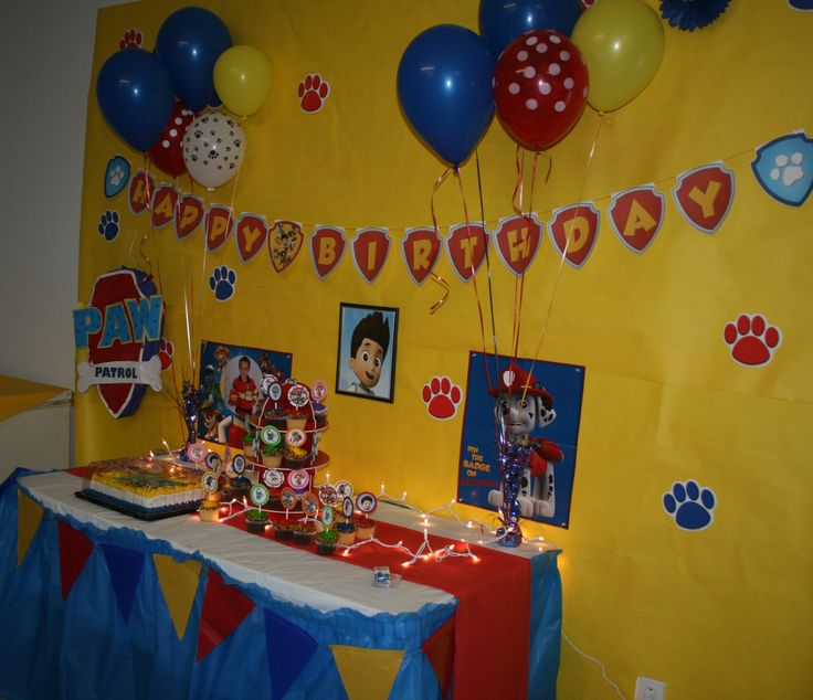 Paw Patrol Party - Table lights are perfect