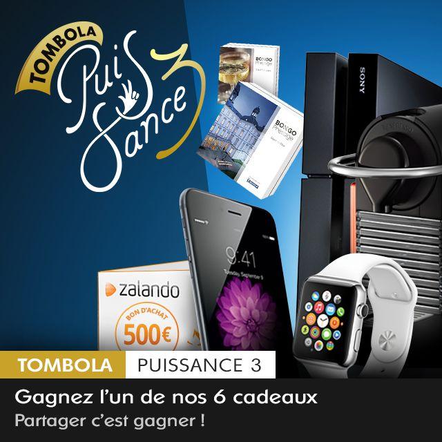 Participe à la Tombola Glow Puissance 3 et découvre IMMÉDIATEMENT si tu as gagné l'iPhone 6, un bon d'achat de 500€ chez Zalando ou l'un de nos 4 autres cadeaux. https://glowvip.be/html/fr/index.html?promcode=pinterestfr