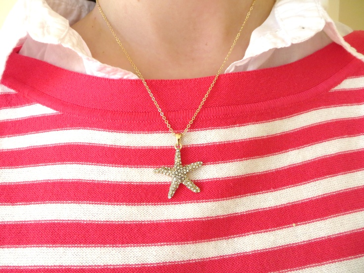 The pave starfish necklace is to die for!! Available Monday night on our FB page at 9 pm ET.