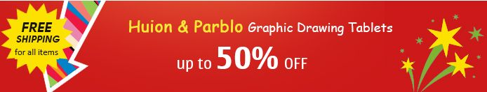 Huion and Parblo Graphic Drawing Tablets up to 50% off!!!