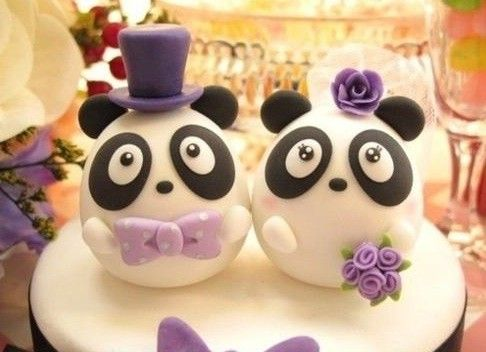 Panda Wedding Cake Topper | Kawaii Foods