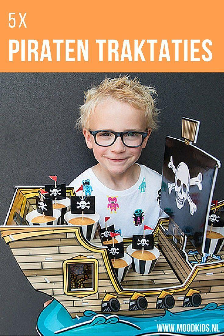 Niet zoveel tijd? Deze piraten traktaties heb je in een mum van tijd gemaakt. En met de kant-en-klare boot en piratenvlaggen ziet het er super tof uit. Bekijk de traktatie voorbeelden hier.