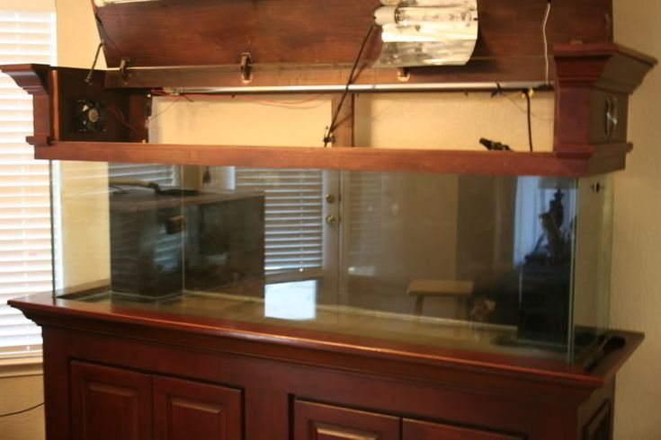 Wood Fish Tank canopy | Thread: Show Off Your Custom Wood Canopies and Stands