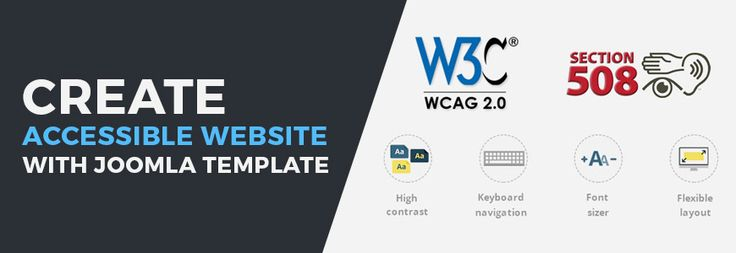 Make a successful accessible website with WCAG 2.0 and Section508 compliant Joomla template. #Joomla #site #website #theme #template #wcag #section508 #accessible