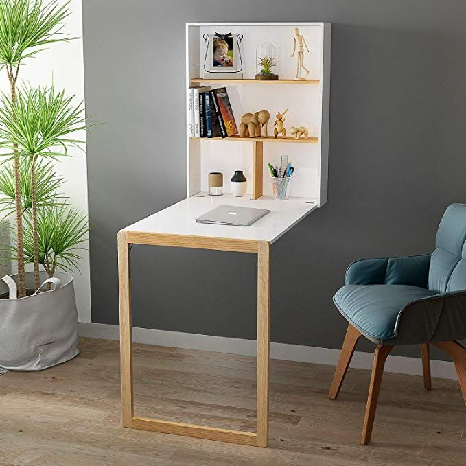 Amazon Com Home Bi Wall Mounted Table Fold Out Convertible Desk Multi Function Computer Writing Dining Desks For Small Spaces Wall Mounted Table Floating Desk