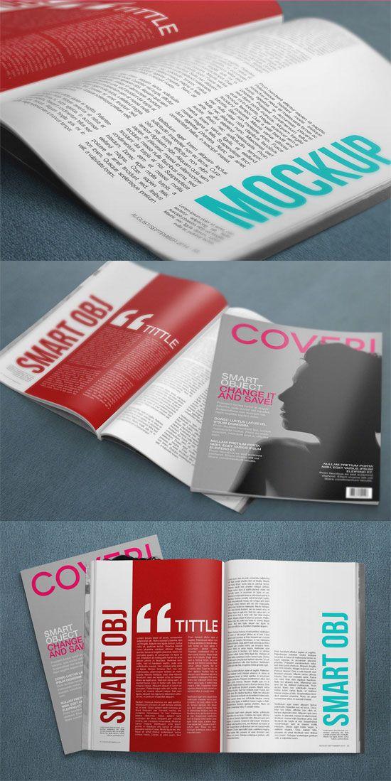 37 Free Magazine Mockup Templates | iBrandStudio